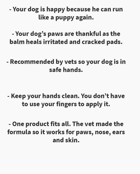 pros of the saker paw balm