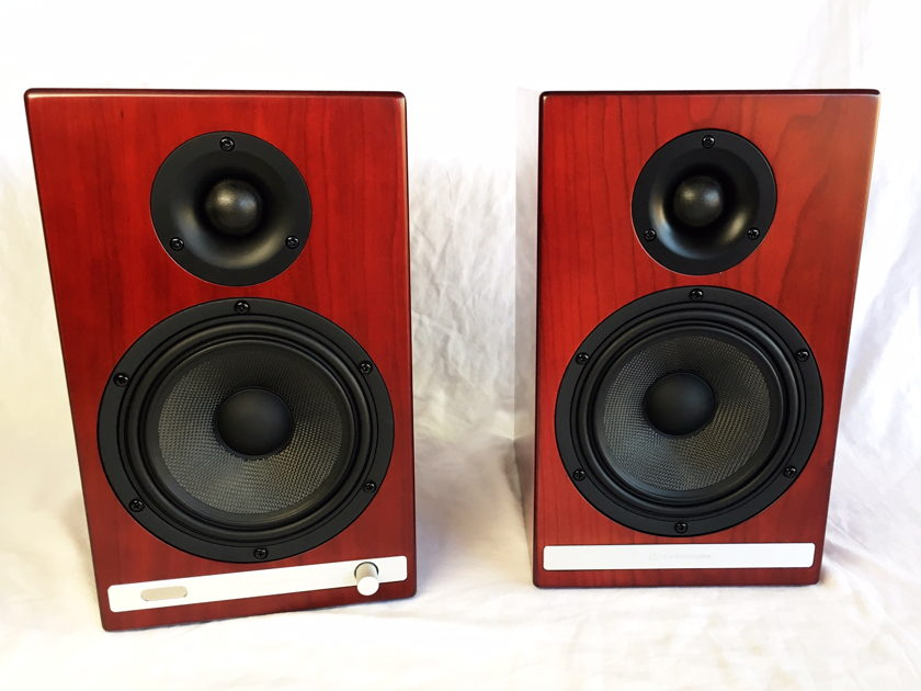 Audioengine HD6 Wireless, Powered bookshelf speaker system (Cherry)