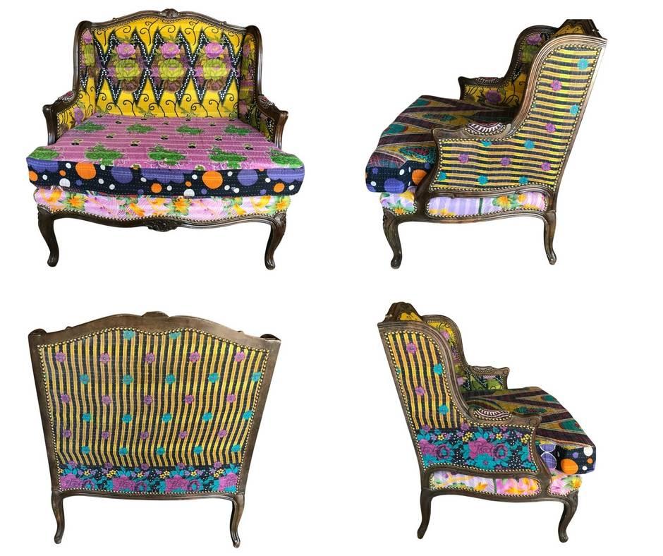 Vintage Kantha Chair U0026 A Half