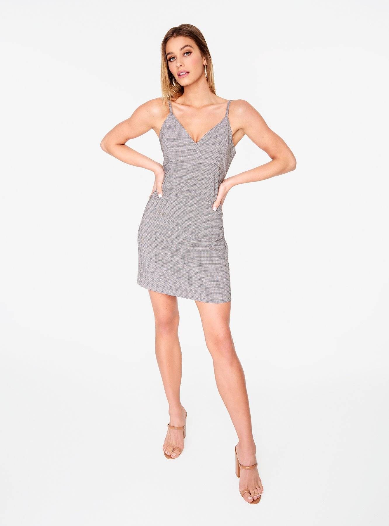 Plaid Tailored Mini Dress