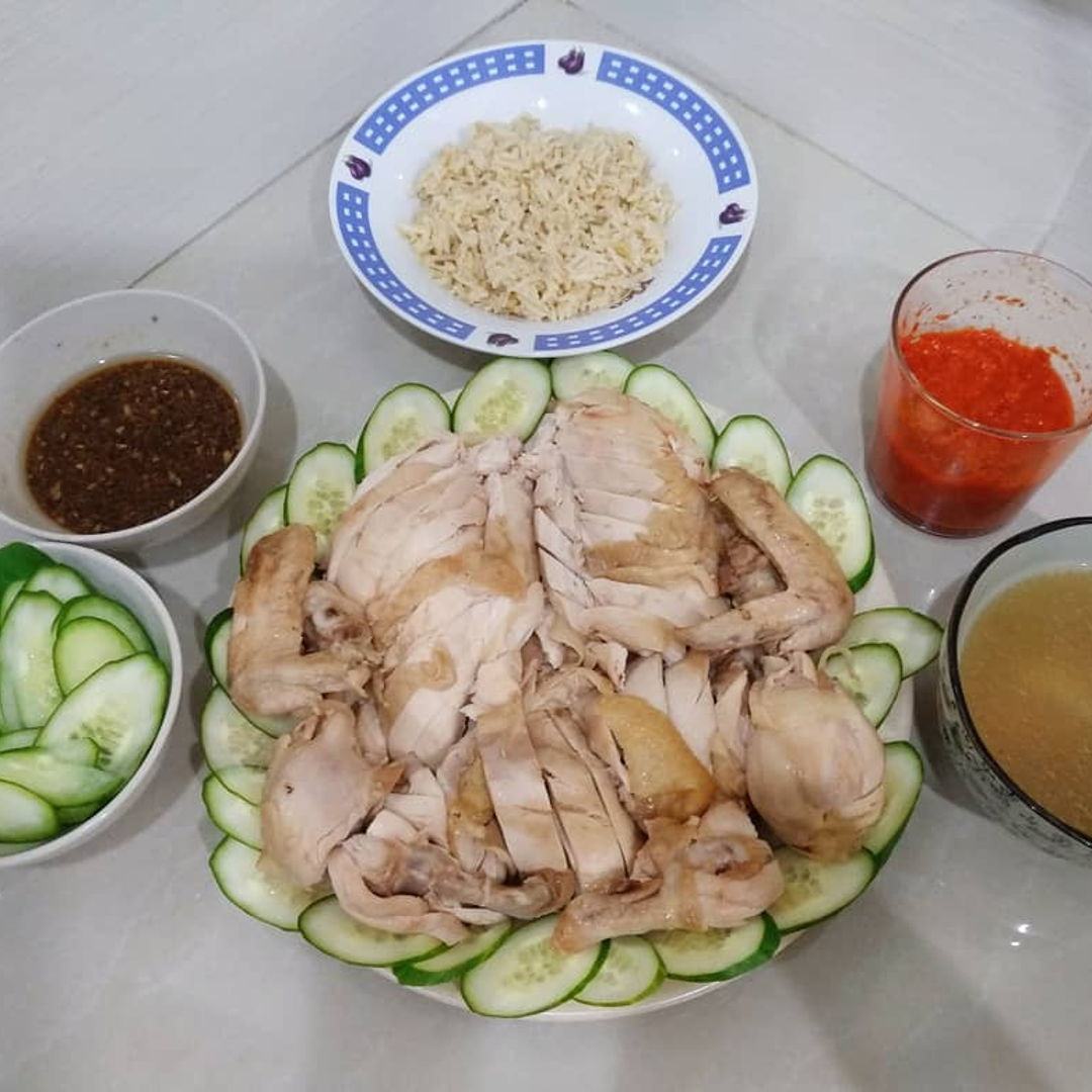 Hainanese Chicken Rice from Nyonya Cooking.