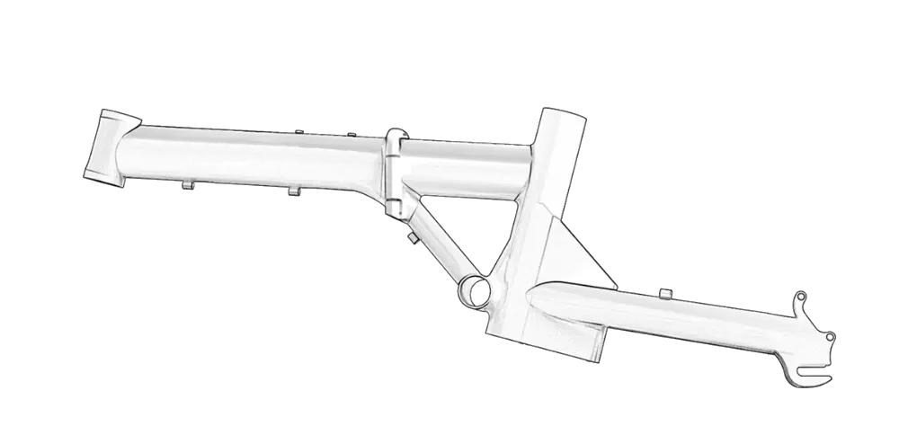 Bild von dem modernen Rahmen des Veloic Concept