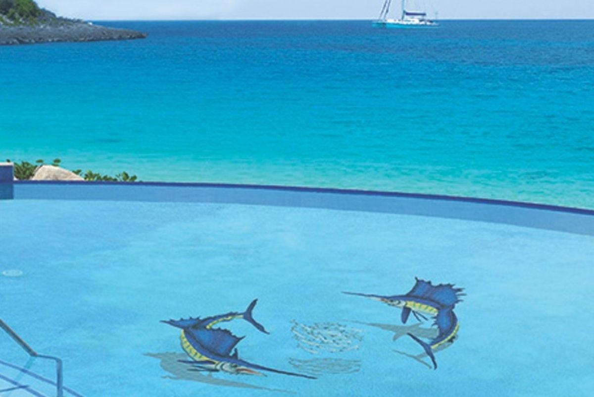 SSHGRPL - Sailfish Group with Shadow Pool Mosaic
