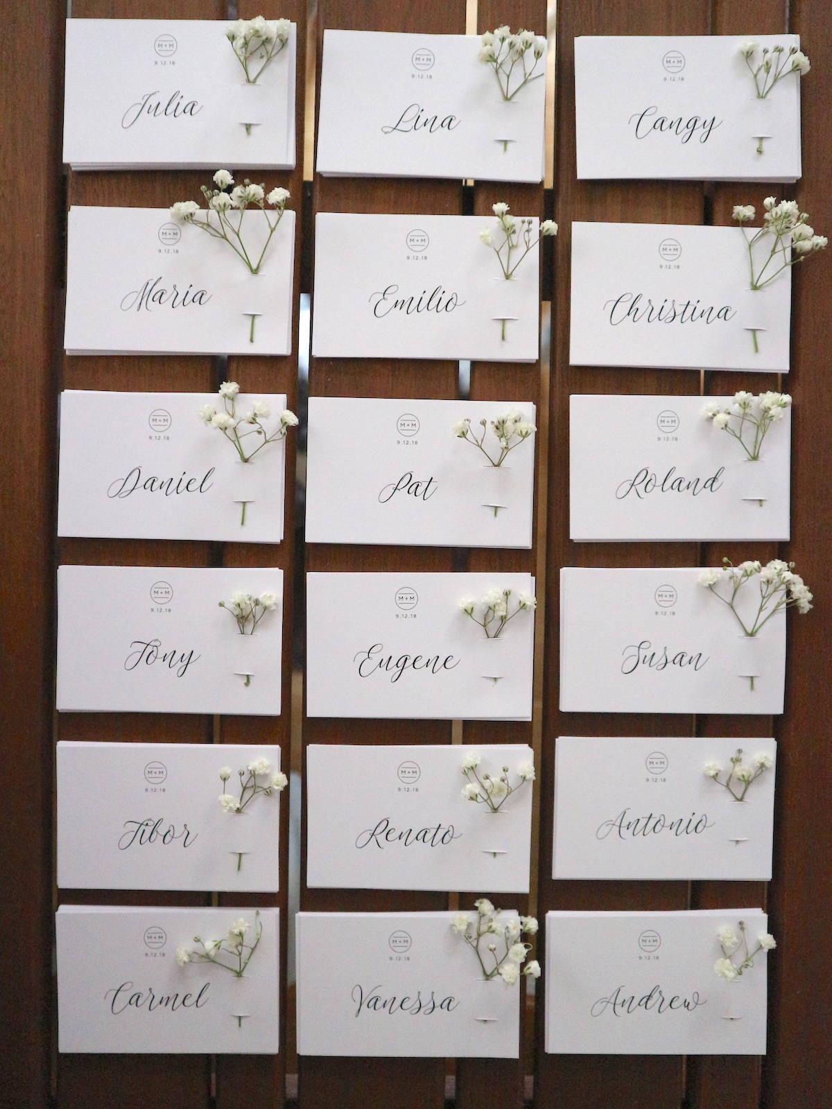 Flower Place Cards Tutorial | The Hello Bureau