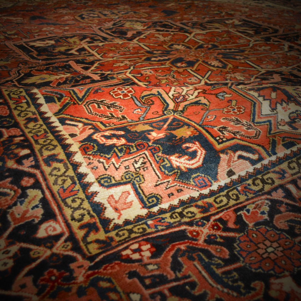 One of a kind hand knotted carpets curated by James Tufenkian
