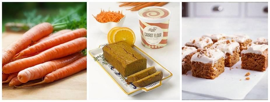 Carrot gluten free flour