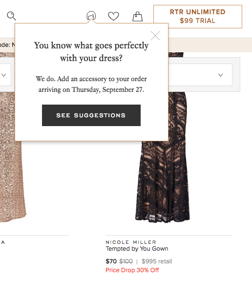 customer personalization examples - email sms