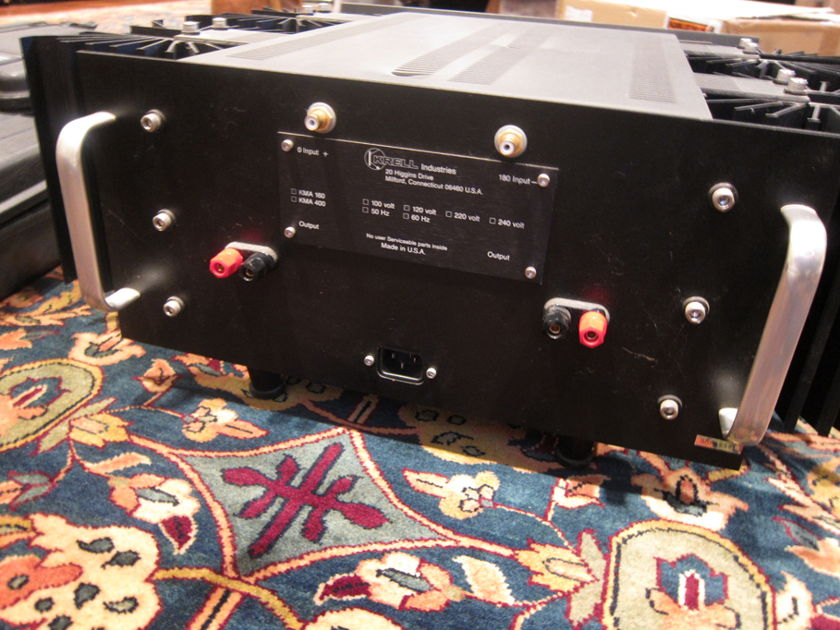 Krell KMA 160 Class A Mono Amps Unbelievable Performance for the Price.