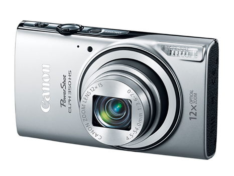 Canon PowerShot ELPH 350 HS Silver Camera with case