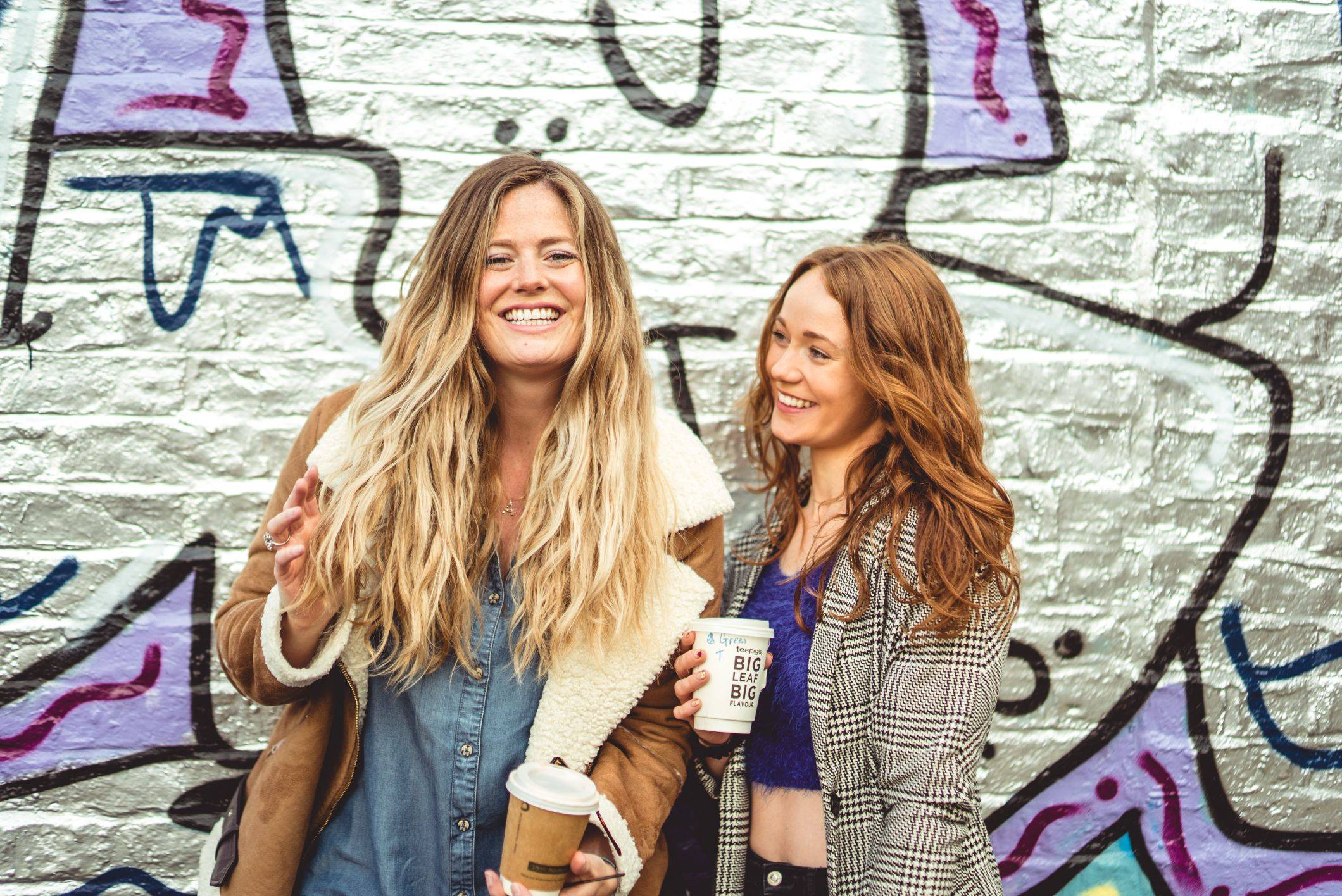 two girls with wavy hairstyles uk