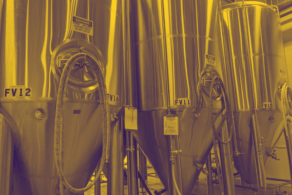 A few beer vats, 30 feet high, in Reformation Brewery.