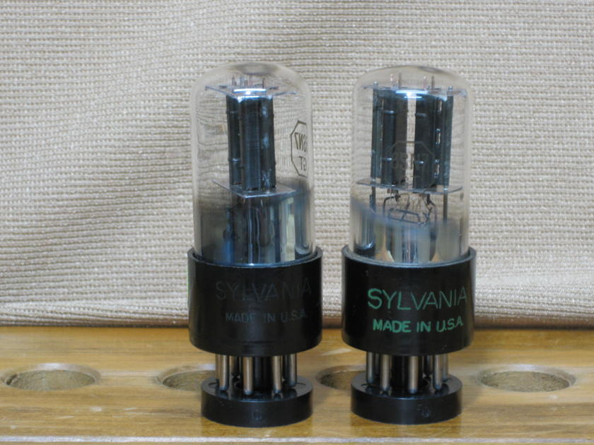 Sylvania 6SN7GT Bad Boy 3 holes plate Matching pair