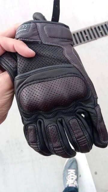 gants trottinette cuir vintage anti chute