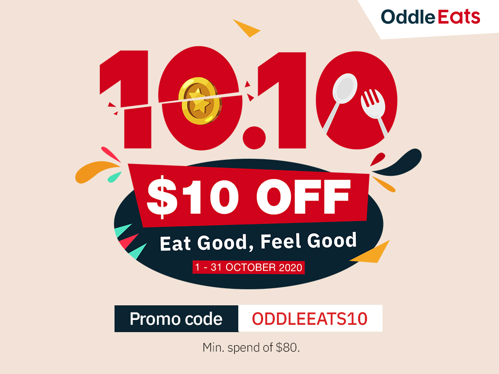 Enjoy $10 off with Oddle Eats 10.10 Specials!