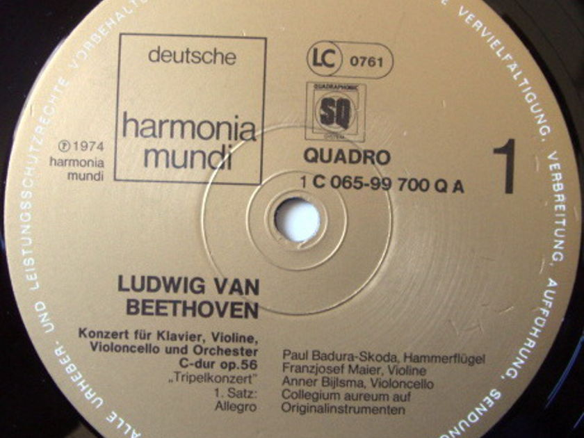 ★Audiophile★ Harmonia Mundi / MAIER-BYLSMA-SKODA, - Beethoven Triple Concerto, NM!