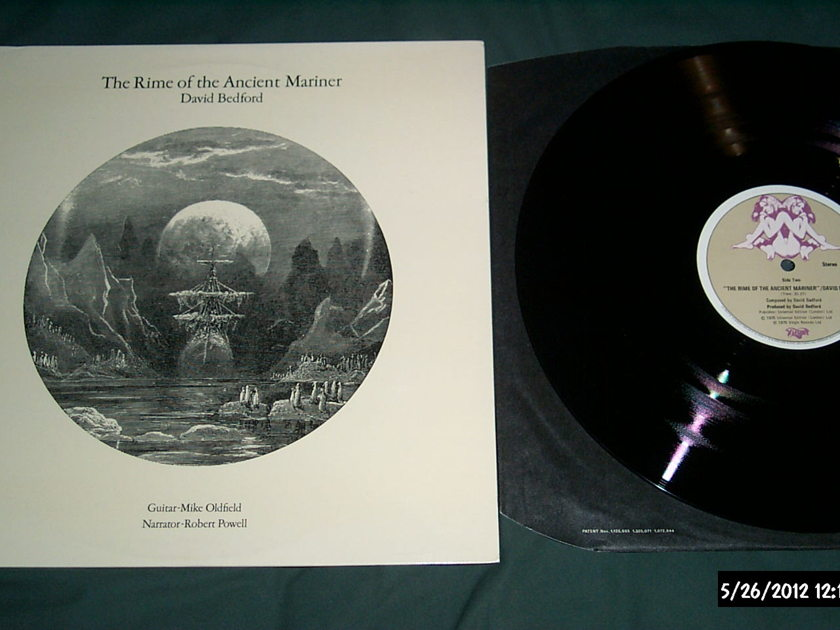 David Bedford - Rime Of The Ancient Mariner  LP NM Mike Oldfield Guitar Virgin UK Label