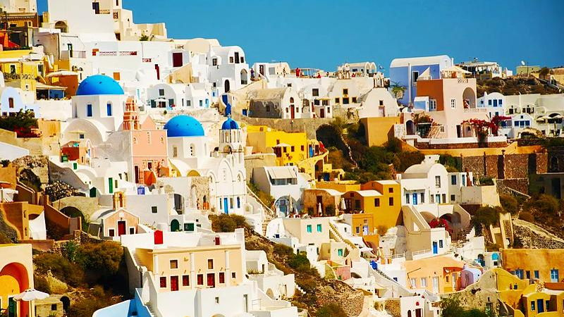 White buildings of Santorini, Greece