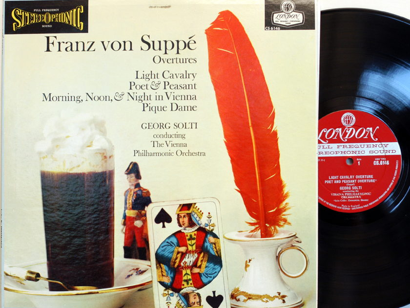 Franz von Suppe Overtures - Georg Solti Vienna Phil Orch London Blue back CS 6146 Mint