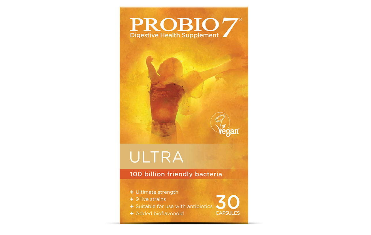 Probio7 Ultra. Our highest strength product, for those with existing digestive issues who need an extra dose of friendly bacteria.