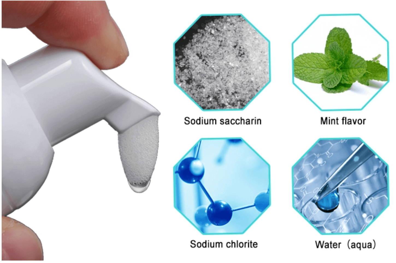 Laser Glow Teeth Whitening Foam Tooth Paste. Whitening Mouth Wash