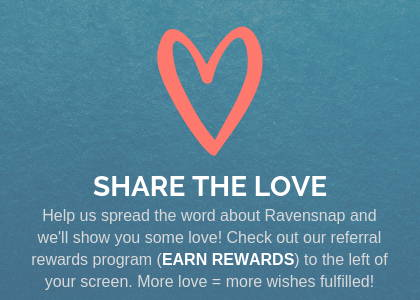 ravensnap share the love and earn rewards