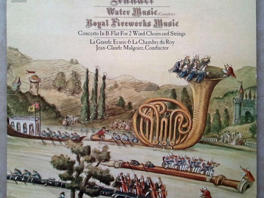 COLUMBIA | MALGOIRE/HANDEL - Water Music, Royal Fireworks Music / 2-LP / NM