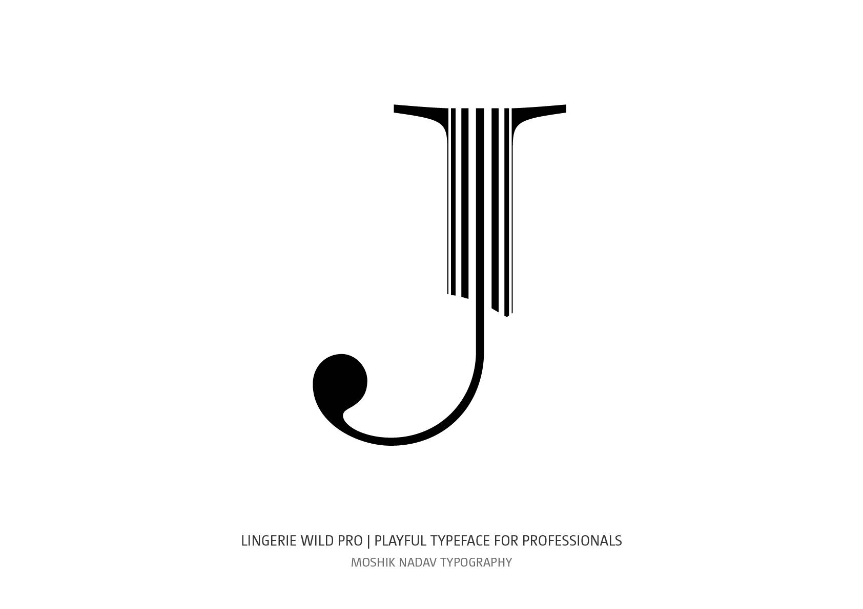 Super cool uppercase J for luxury and fancy logos by Moshik Nadav Fashion Typography