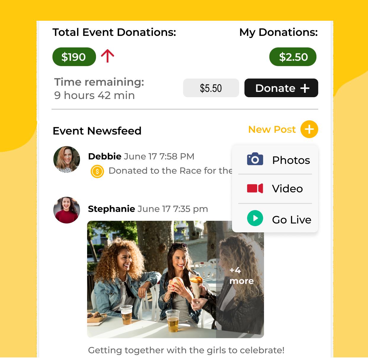 BrightOn app screen