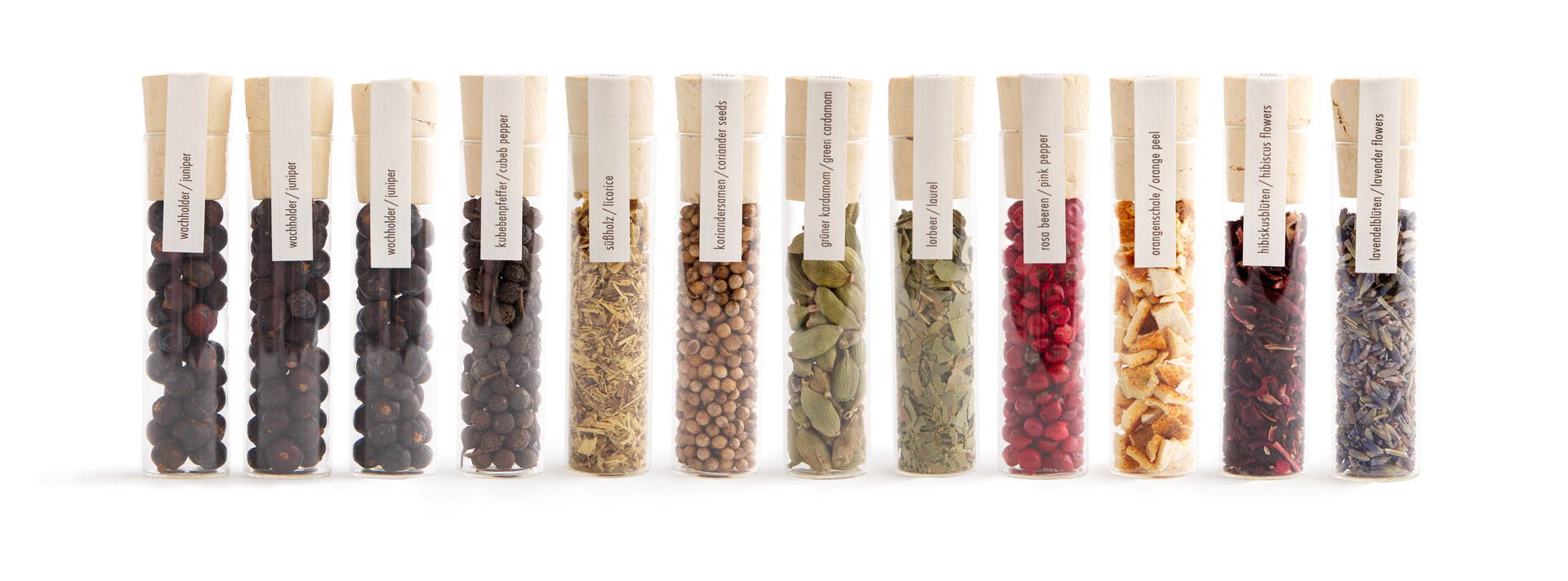 Botanicals for gin infusion