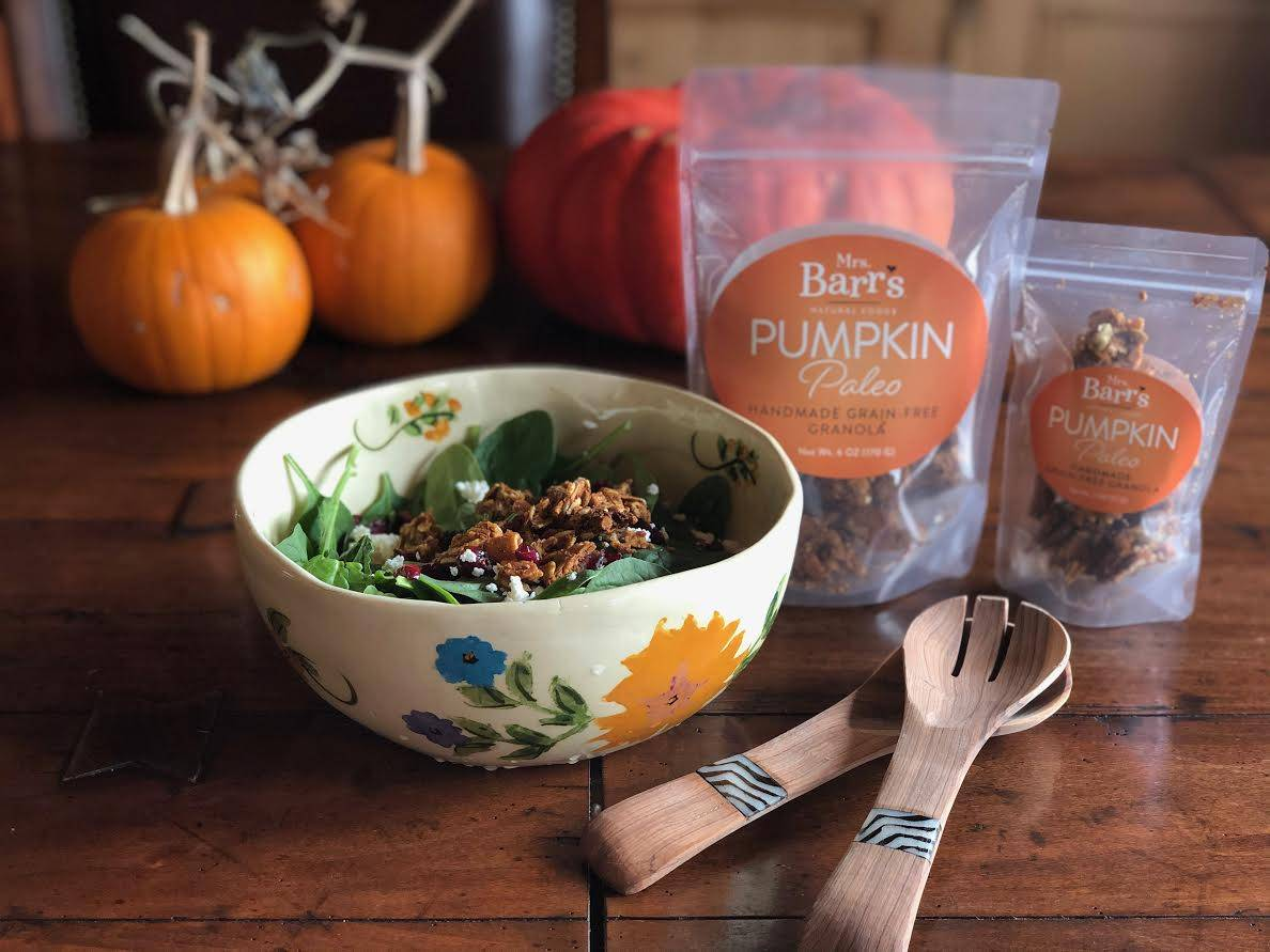 pumpkin paleo spinach salad recipe