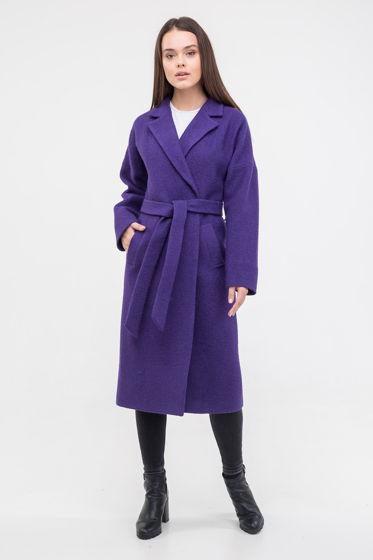 Пальто-халат ультра фиолет