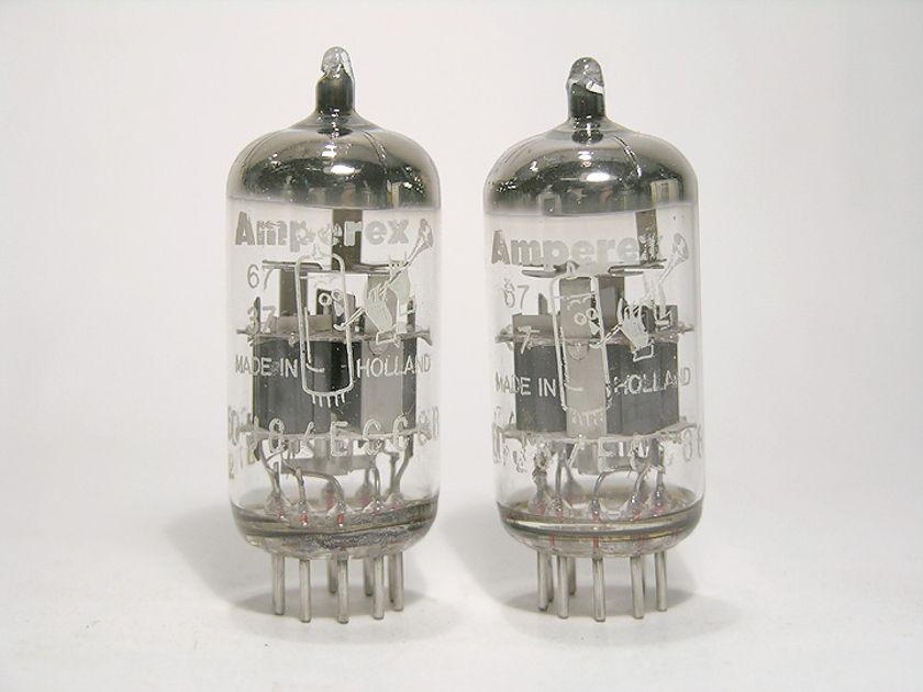 Amperex Bugle Boy 6DJ8 / ECC88 Pair Brand New in the Box