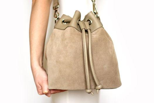 Бежевая сумка - мешок Daisy