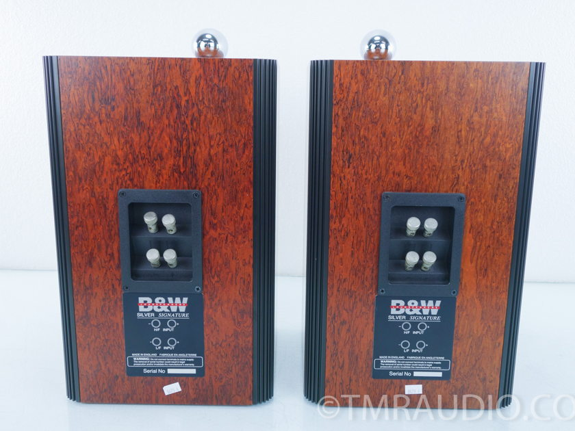 B&W  Silver Signature Speakers;  Excellent Pair; Bowers & Wilkins (8479)