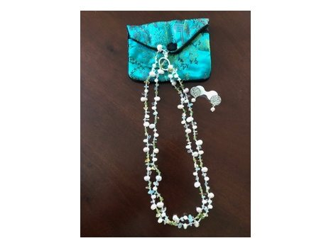 """Elegant 46"""" Freshwater Pearl Necklace And Earrings"""