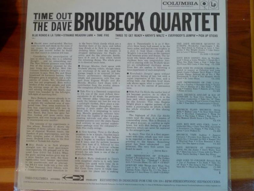 Dave Brubeck - Time Out Classic Records original reissue 180G 1990's Sealed