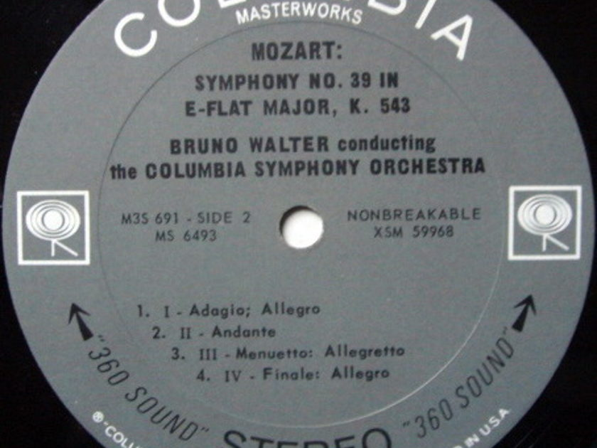 Columbia 2-EYE / BRONO WALTER, - Mozart Symphonies No.36 Linz & 39, NM!