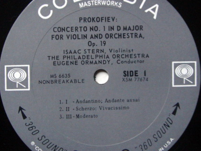 Columbia 2-EYE / STERN, - Prokofiev Violin Concertos No.1 & 2, MINT!