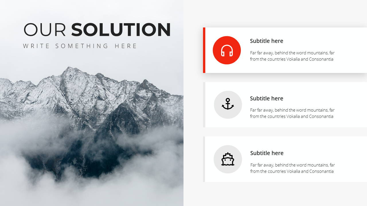 Minimal X Presentation Template Business Plan Solutions