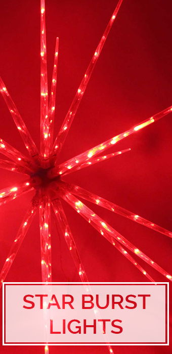Christmas Star Burst Lights