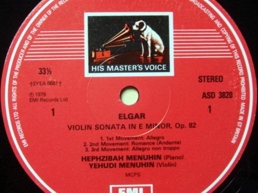 EMI ASD STAMP-DOG / MENUHIN, - Elgar-Williams Violin Sonatas, NM!