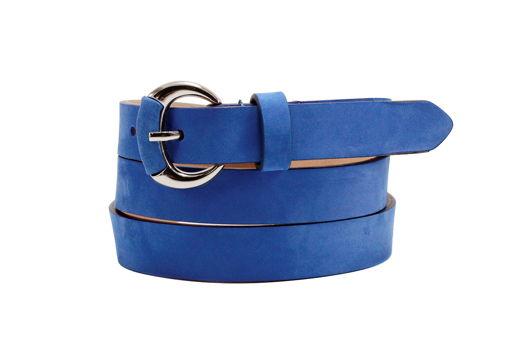 Замшевый ремень синий