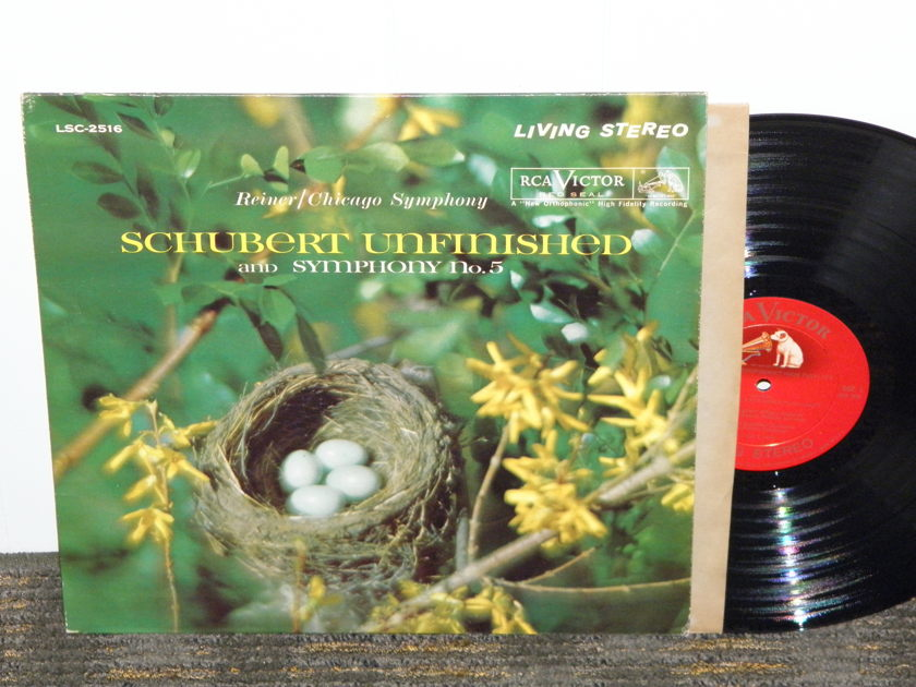 Reiner/Chicago Symphony  - Schubert Unfinished+ No. 5 Symphonys RCA LSC 2516 Shaded Dog  LP
