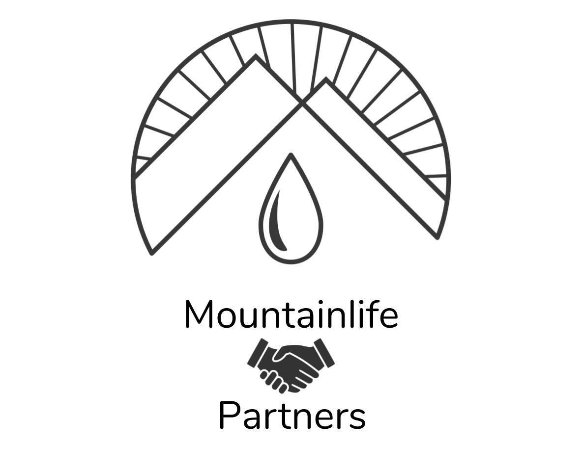 mountainlife partnership logo with handshake in black