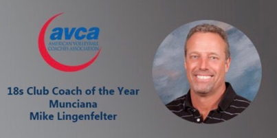 Image for Mike Lingefelter Named the 2017 AVCA 18's Coach of the Year