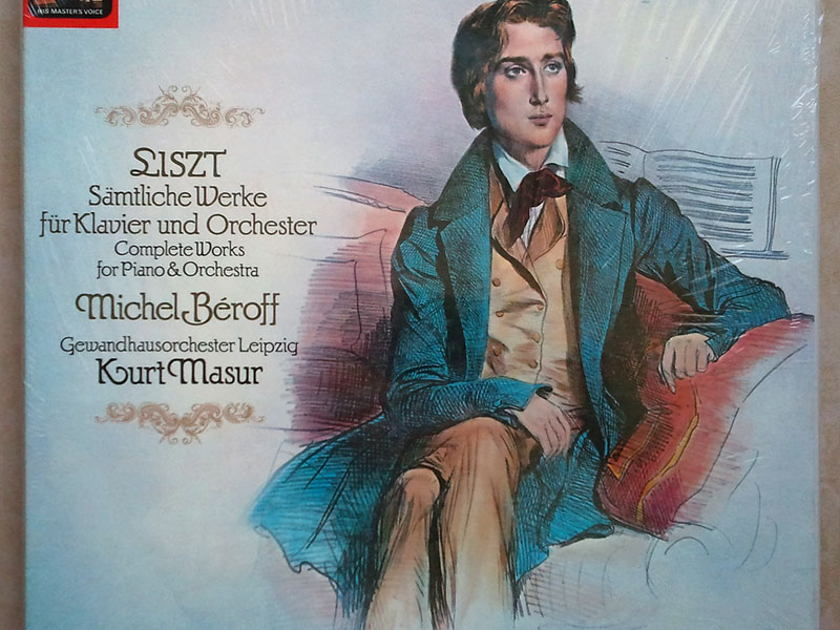 Sealed EMI HMV | BEROFF/MASUR/LISZT - Complete Works for Piano & Orchestra / 3-LP Box Set