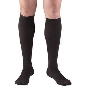 Men's Knee High Dress Socks in Black
