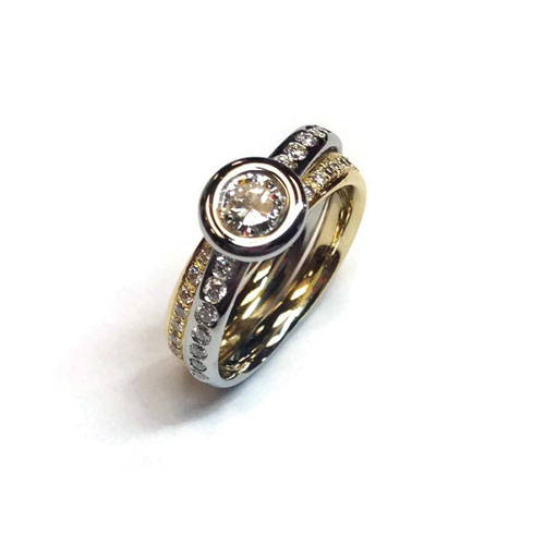 yellow gold ring polished and cleaned