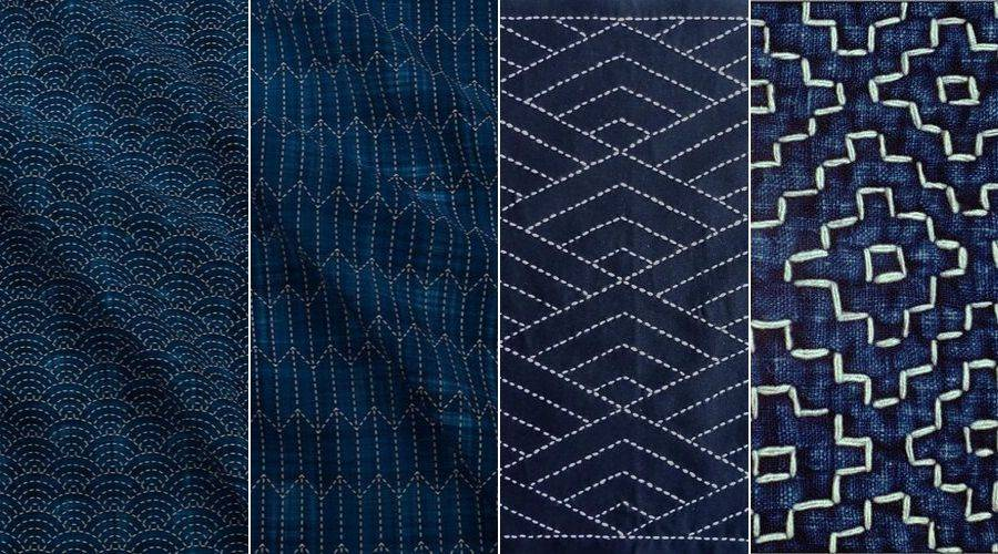 4 common examples of sashiko patterns
