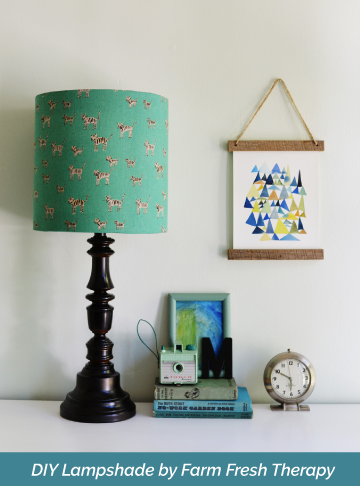 How to make a lampshade using any material you want i like that lamp how to make a drum lampshade using your own fabric aloadofball Image collections